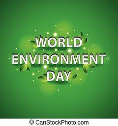 concept, milieu, groene achtergrond, wereld, dag