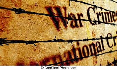 concept, misdaden, oorlog