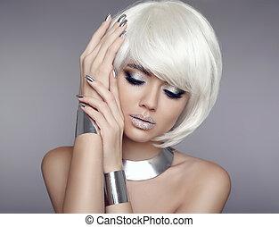 concept, modèle, coloration, bijouterie, beauté,...