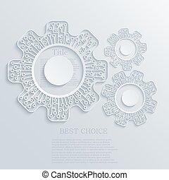 concept, moderne, mécanisme, vecteur, planche, circuit