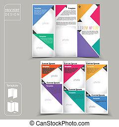 concept, moderne, reclame, mal, informatieboekje , geometrisch