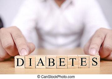 concept, monde médical, diabète, services médicaux