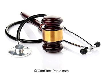 concept, monde médical, procès