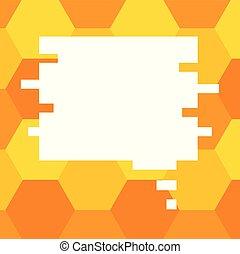 concept, morceau, annonces, business, espace, couleur, bulle, puzzle, matériel, isolé, promotionnel, forme, vecteur, parole, bons, gabarit, vide, affiches, copie, présentation, vide