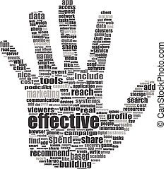 concept, mot, aimer, média, -, étiquette, social, nuage