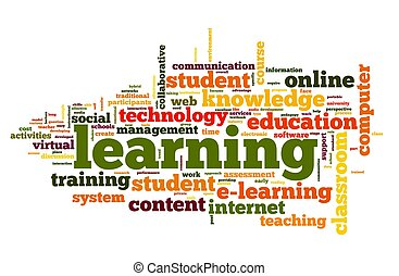 concept, mot, apprentissage, nuage