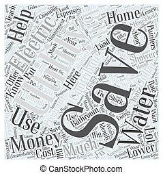 concept, mot, argent, utilités, sm, sauver, nuage