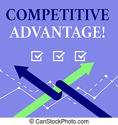 concept, mot, business, advantage., qualité, compétitif, écriture, volonté, assurer, field., mener, vous, texte, posséder