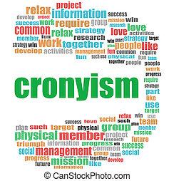 concept, mot, business, collage, cronyism., nuage