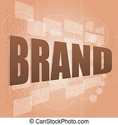 concept, mot, business, marque, étiquette, nuage