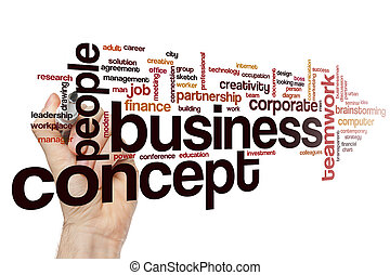 concept, mot, business, nuage