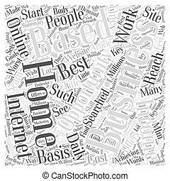concept, mot, business, revenu, maison, occasion, nuage, basé