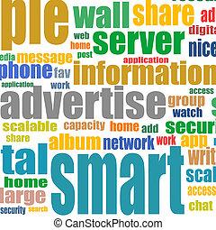 concept, mot, commercialisation, publicité, communication, nuage