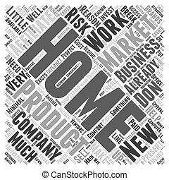 concept, mot, commercialisation, travail, comment, permettre, affiliate, boîte, maison, vous, nuage