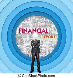 concept, mot, financier, nuage, business