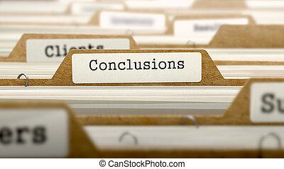 concept, mot, folder., conclusions