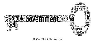concept, mot, gouvernement, texte, fond, pierre angulaire, nuage