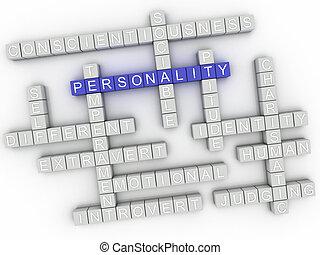 concept, mot, image, questions, fond, personnalité, nuage,...