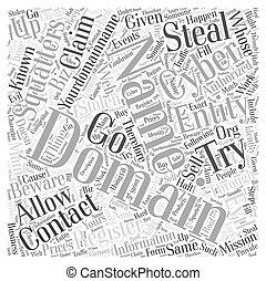concept, mot, prendre garde, cyber, nuage, squatters