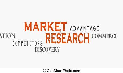 concept, mot, recherche, arrière-plan., nuage, blanc, marché
