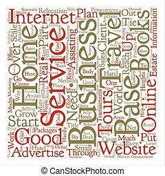 concept, mot, reussite, business, texte, manière, fond, maison, basé, nuage