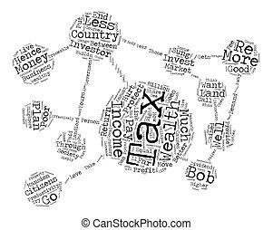 concept, mot, richesse, texte, impôt, mieux, comment, fond, revenu, que, nuage
