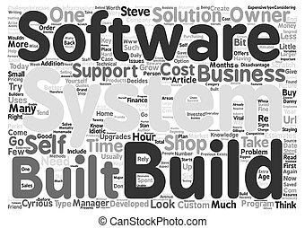 concept, mot, texte, prendre garde, fond, constructeurs, nuage