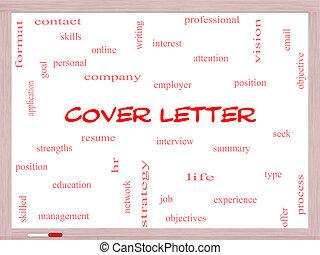 concept, mot, whiteboard, couverture, lettre, nuage