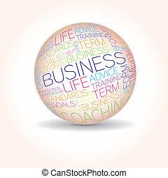 concept, mots, apparenté, business