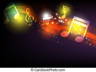 concept, musique, fond