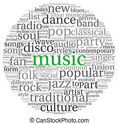 concept, musique, mots