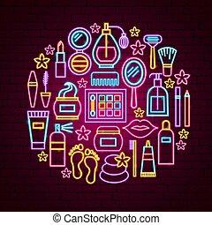 concept, néon, beauté
