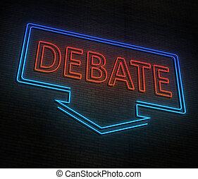 concept., néon, débat