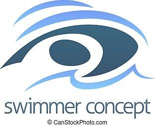concept, natation