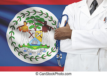concept, national, -, système, healthcare, belize