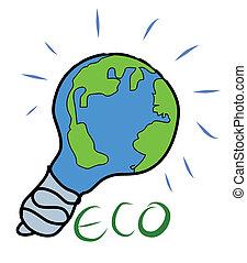 concept, nature, eco, arrière-plan., vert, dessin