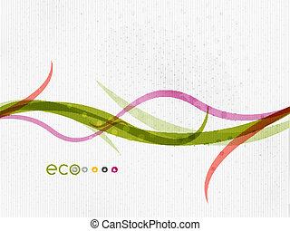 concept, nature, eco, feuilles, voler, vert, floral, |, minimal