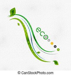 concept, nature, eco, vert, floral, minimal
