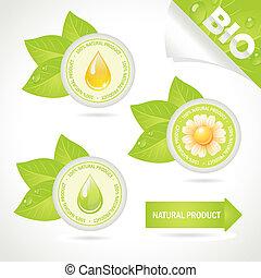 concept, naturel, elements:, produit