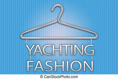 concept, nautisme, mode, cintre, bannière, vêtements