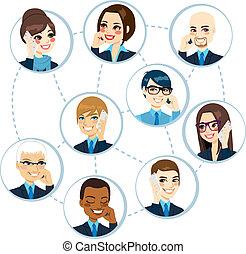 concept, netwerk, zakelijk