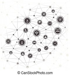 concept, networking, internet