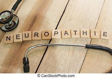 concept, neuropathie, santé médicale, soin