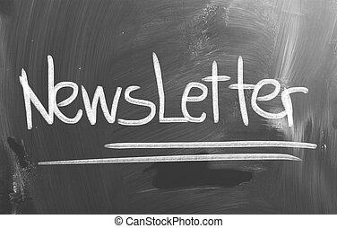 concept, newsletter
