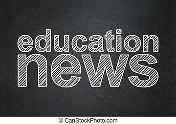 concept:, notícia, educação, chalkboard, fundo