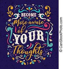 concept, noteren, bewust, tekst, worden, jouw, gedachten