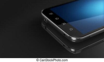 concept, notiification, écran, flash, appel téléphonique, incomming, intelligent