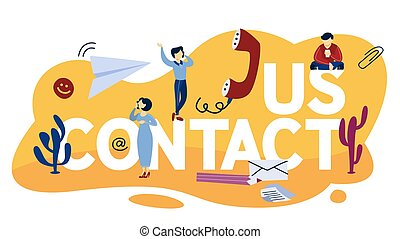 concept, nous, illustration, contact