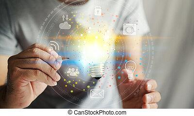 concept, nouveau, créativité, idée, innovation
