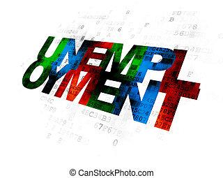 concept:, numérique, finance, fond, chômage